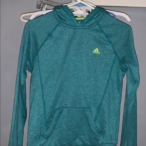 Adidas blue and yellow hoodie